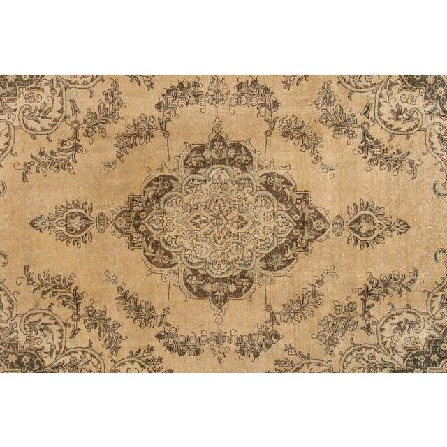 "Persian Apadana - Vintage Persian Tabriz Rug, 9'10"" X 12'7"" For Sale - Image 3 of 7"
