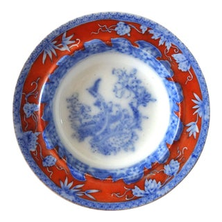 Early 19th Century Antique Mason's Staffordshire Flow Blue Dish For Sale