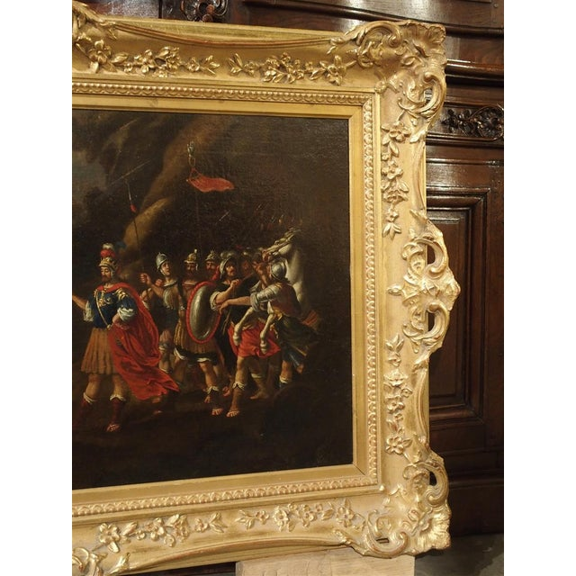 18th Century Italian Oil Painting on Canvas in Giltwood Frame For Sale - Image 9 of 11