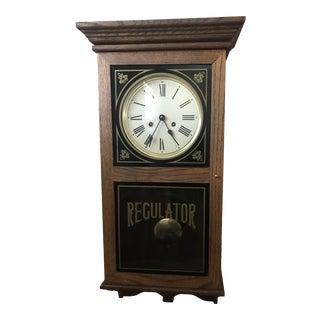 Vintage Regulator Wall Clock For Sale