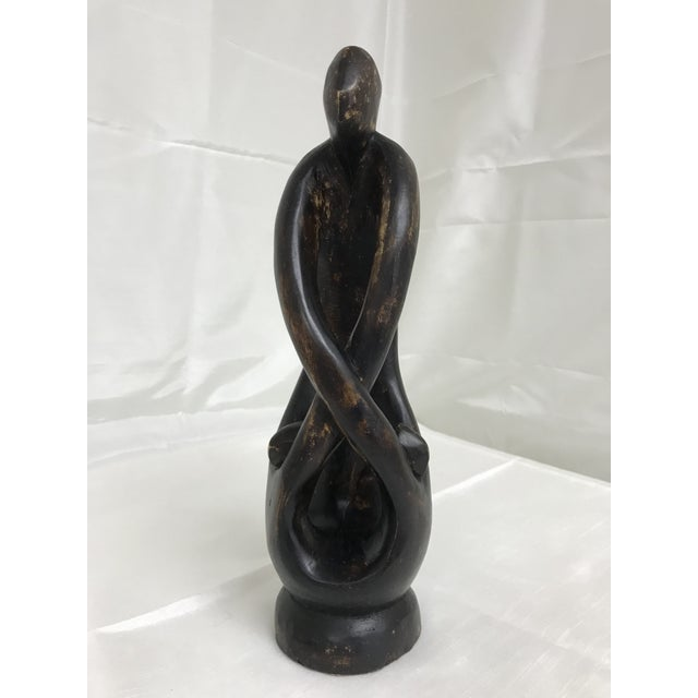 Wood 1980s African Hand Crafted Carved Wood Ghana Figurine For Sale - Image 7 of 7
