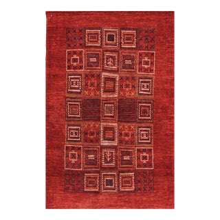 """Persian Gabbeh Hand Knotted Rug - 3'2"""" X 4'11"""""""