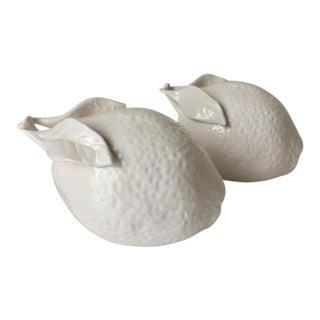 2 Blanc De Chine Porcelain Lemons For Sale