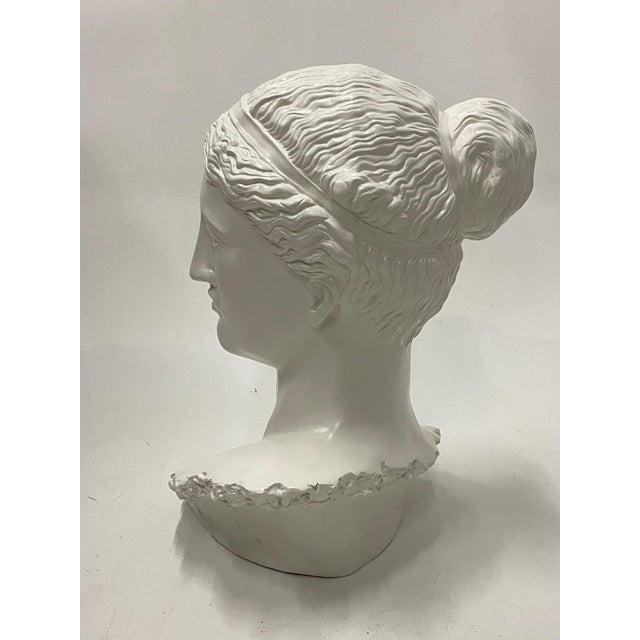 1980s Romantic Fiberglass Bust of Diana, Sculpture For Sale - Image 5 of 13