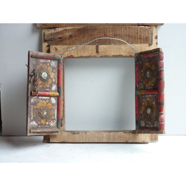 Boho Chic Hand Painted Nepalese Door For Sale - Image 3 of 5