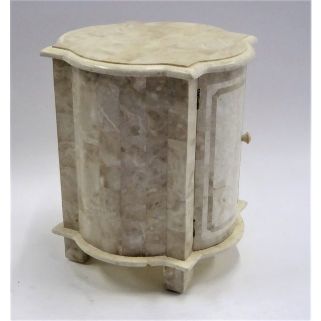 Tesselated Fossil Stone Nightstand End Table from Marquis Collection of Beverly Hills For Sale In Miami - Image 6 of 11