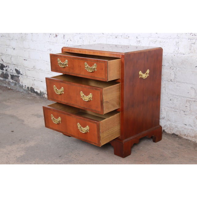 Baker Furniture Chippendale Fruitwood Chest of Drawers or Commode For Sale - Image 9 of 13