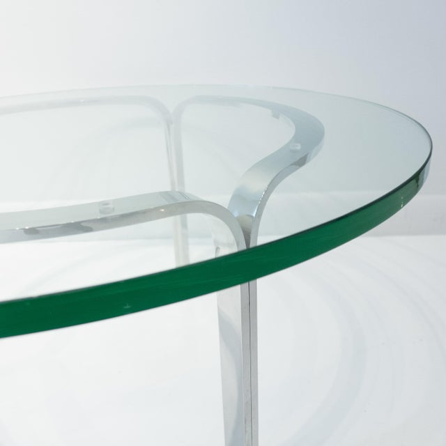 2000s Nicos Zographos Ribbon Steel Cocktail Table For Sale - Image 5 of 9