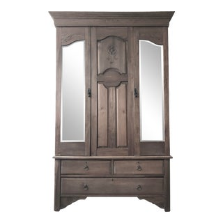 Early 20th Century Antique Wardrobe Armoire For Sale