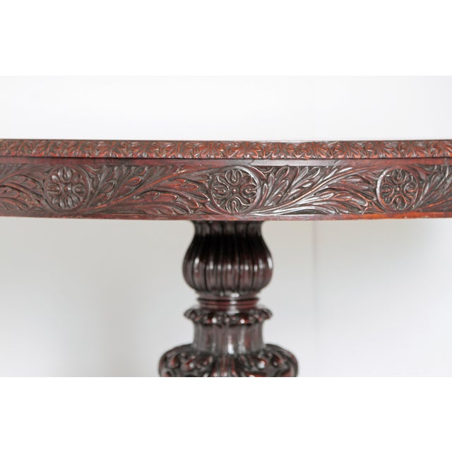 Late 19th Century Anglo-Indian Tilt-Top / Centre Table of Mahogany For Sale - Image 5 of 13