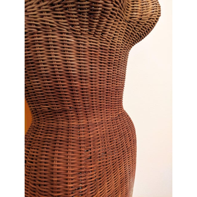 1950s 1950s Boho Chic Wicker Sculptural Mannequin For Sale - Image 5 of 6