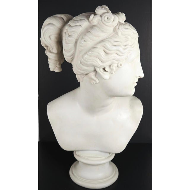 Neoclassical Classical Bust of Goddess Diana For Sale In Los Angeles - Image 6 of 6