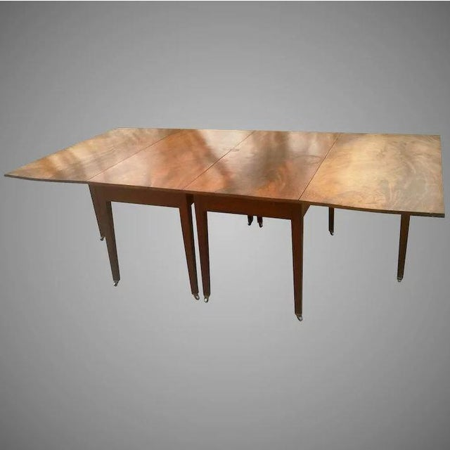 Federal Mahogany Hepplewhite Banquet Dining Table For Sale - Image 11 of 11