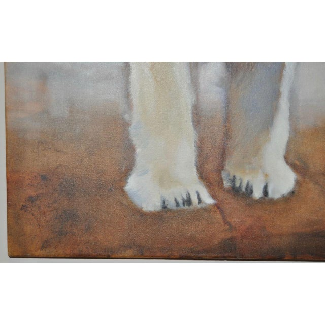 "Ute Simon ""Polar Bear"" Oil on Canvas Painting, Circa 2003 - Image 4 of 9"