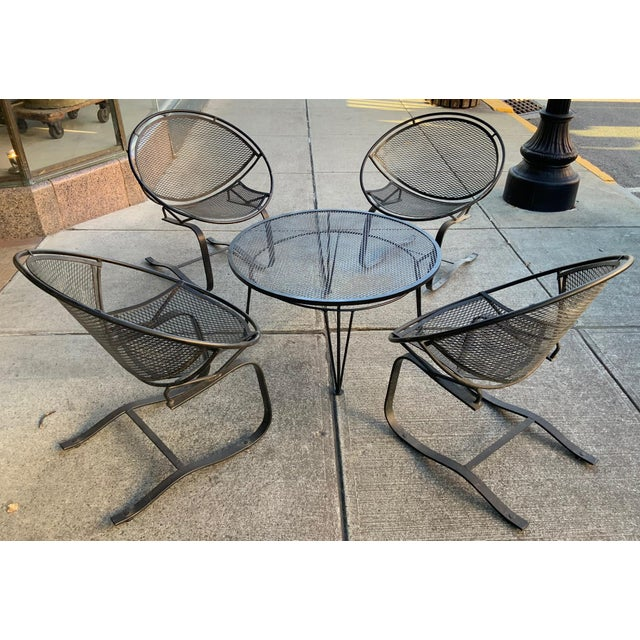 1950s Salterini Radar Lounge Chairs and Coffee Table Patio Set For Sale - Image 5 of 6