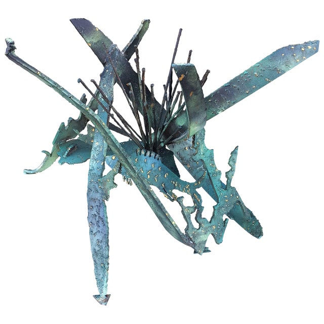 Silas Seandel Brutalist or Torch Cut Table Sculpture For Sale