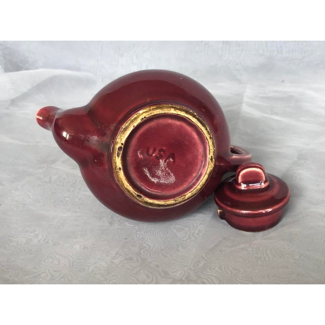 Ceramic Vintage 1940s Usa Pottery Teapot For Sale - Image 7 of 13