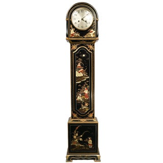 Early 20th Century Vintage Chinoiserie Grandmother Clock For Sale