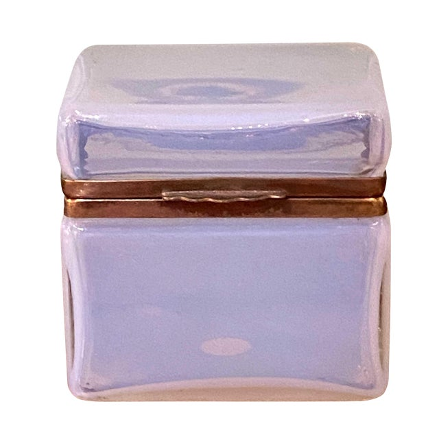 Mid 20th Century Murano Clear White Box For Sale