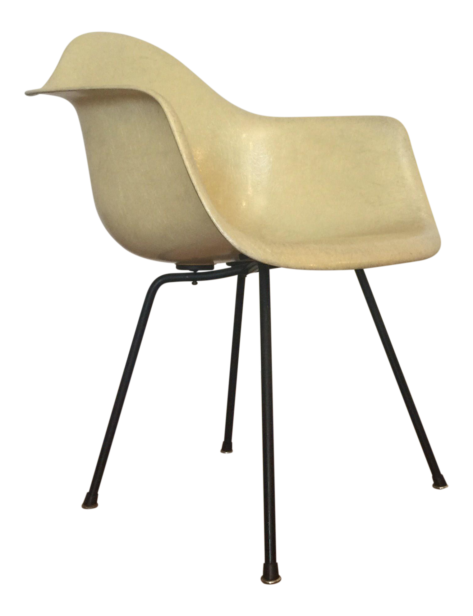 Eames For Herman Miller Rope Edge First Generation Yellow Shell Chair For  Sale