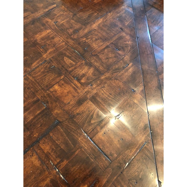 Brown French Provencale Style Parquet Dining Table For Sale - Image 8 of 12
