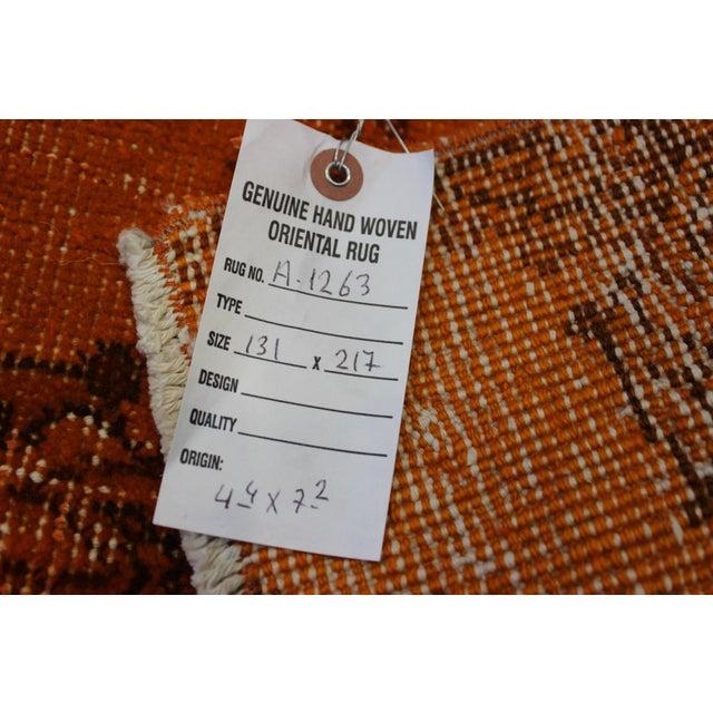 Textile Ori̇ental Turki̇sh Overdyed Rug - 4′4″ × 7′2″ For Sale - Image 7 of 7