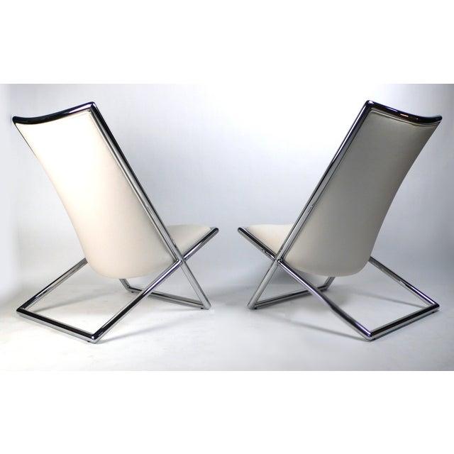 Ward Bennett Scissor Lounge Chairs by Ward Bennett For Sale - Image 4 of 9