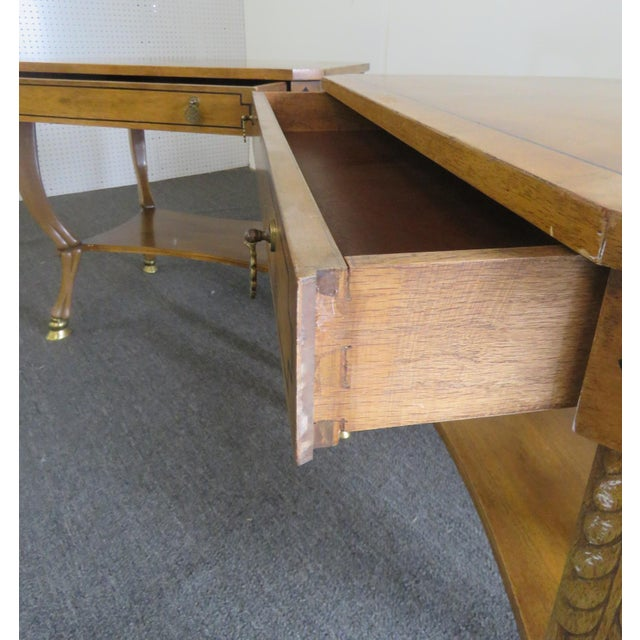 Gold Pair of Regency Style End Tables For Sale - Image 8 of 13