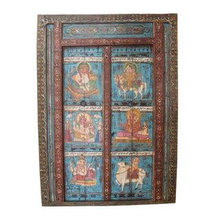 1960's Hindu Figures Vintage Door For Sale