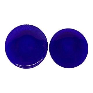 Colbalt Diamond Back Plates - a Pair