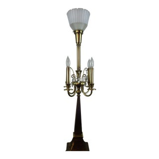 Rembrandt Lamp Company Brass Candelabra Table Lamp For Sale
