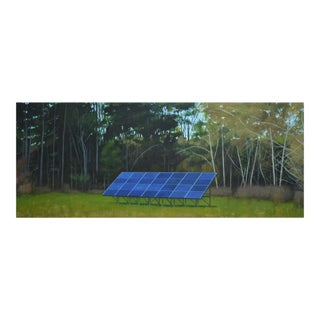 "Stephen Remick Large (32"" X 80"") ""Back Yard Solar Panels"" Contemporary Painting For Sale"