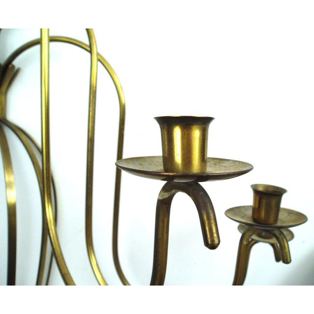 Classic and Elegant Brass Wall Sconce For Sale In New York - Image 6 of 7