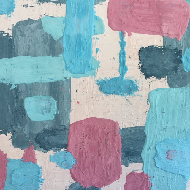 Colored plaster was applied by hand in thick passes and worked over as it cured to create a deeply textured, sculptural...