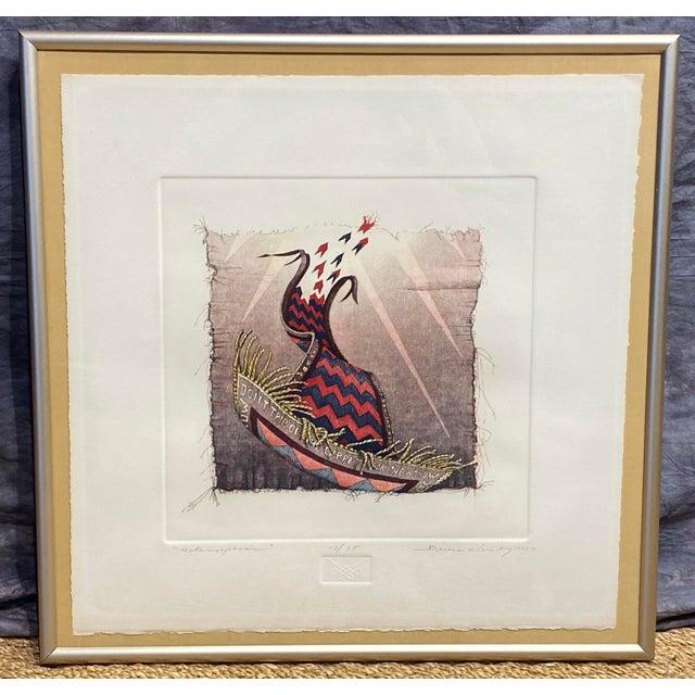 """Metamorphosis"" Etching by Bruce Weinburg For Sale - Image 11 of 11"