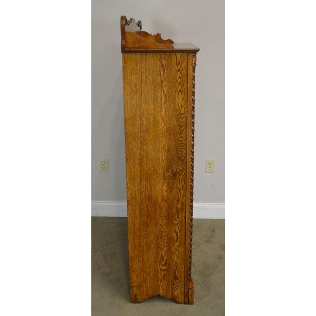 Antique Victorian Oak 2 Door Bookcase For Sale In Philadelphia - Image 6 of 12