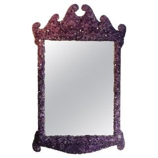 Amethyst Crystal Quartz Wall Mirror For Sale
