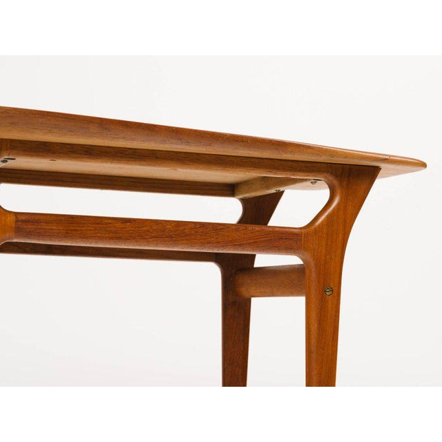 Pair of Danish Modern Teak Side Tables in the Style of Poul Jensen For Sale - Image 9 of 11