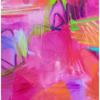 """""""Sparks Fly"""" by Trixie Pitts Large Abstract Expressionist Oil Painting Preview"""