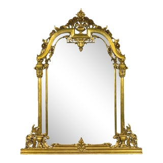 Renaissance Revival Style Over Mantle Mirror For Sale