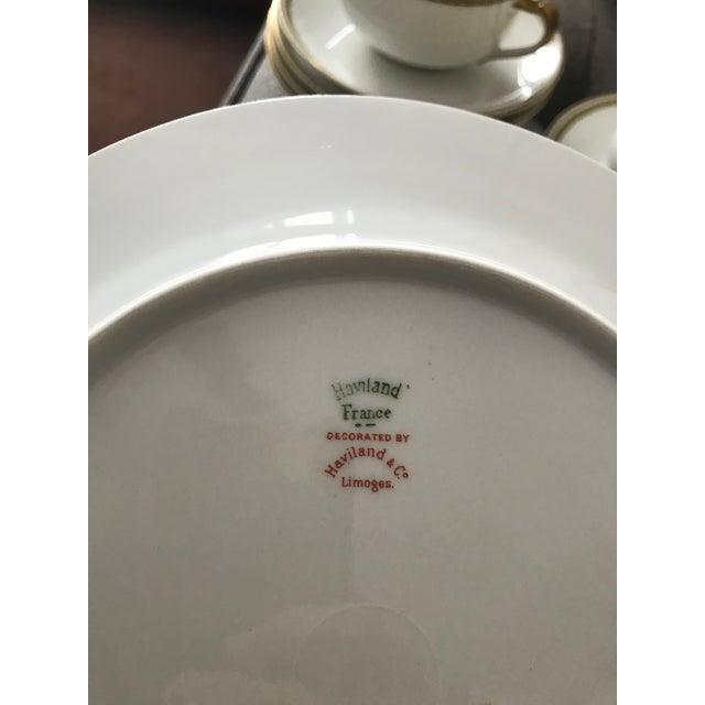 Limoges Art Deco Bone China Dinnerware For Sale - Image 11 of 12