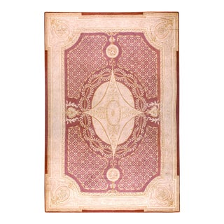 """Antique French Aubusson Rug 13'4"""" X 21'0"""" For Sale"""