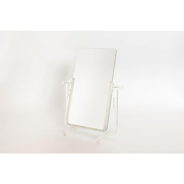 Vintage Lucite Vanity Mirror For Sale In Seattle - Image 6 of 6