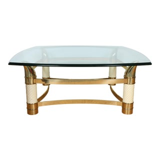 Italian Brass Coffee Table For Sale