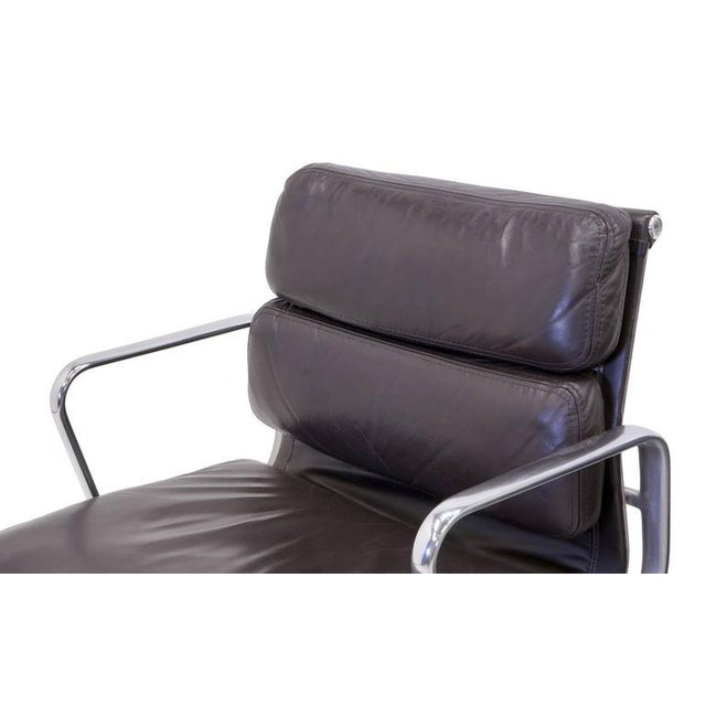 Eames for Herman Miller Leather Soft Pad Aluminum Group Armchairs buy any number - Image 7 of 10