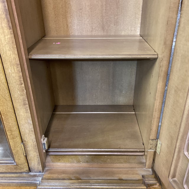 Thomasville Neoclassical Wood China Display Cabinet For Sale - Image 12 of 13