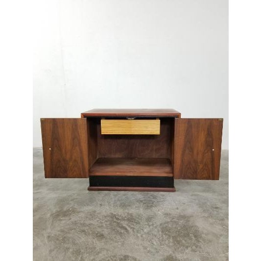 Wood Mid-Century Brown Saltman Night Stand For Sale - Image 7 of 13