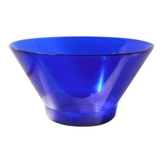 Sapphire Blue Salad Bowl For Sale