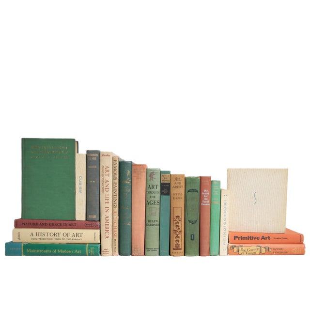 Modern Vintage Earthtone Art Scholar Book Set, S/20 For Sale - Image 3 of 3