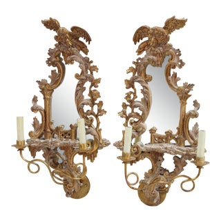 20th Century Rococo Gold Sconces- a Pair For Sale